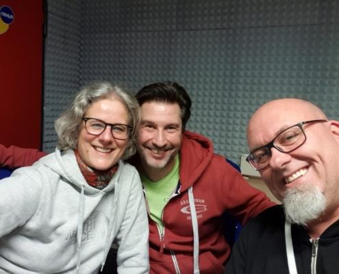 Jochen Volpert und Carola Thieme zu Besuch bei Radio Gong